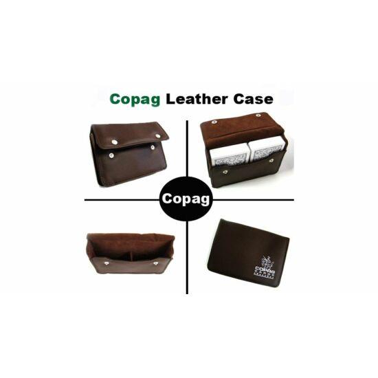 COPAG bőr kártyatartó, 2 csomag póker kártához