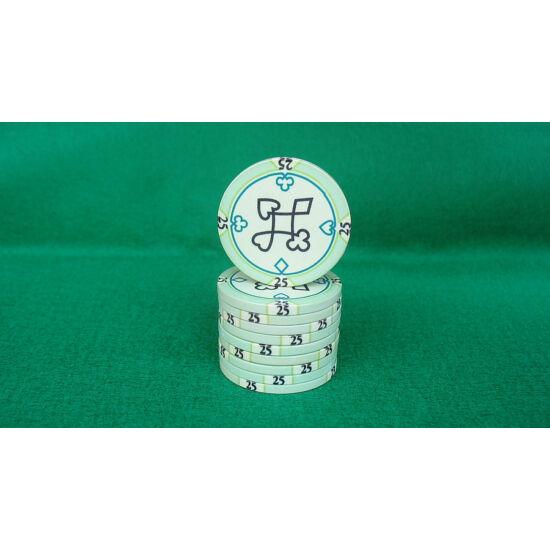 Zseton.hu HungaroLinea kerámia póker zseton - 25/zöld, 1 db (aligned)