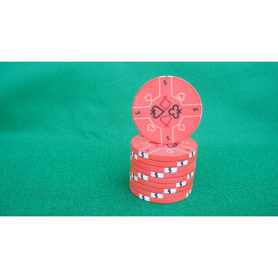 Zseton.hu HungaroLinea kerámia póker zseton - 5/lazac-szín, 1 db (aligned)