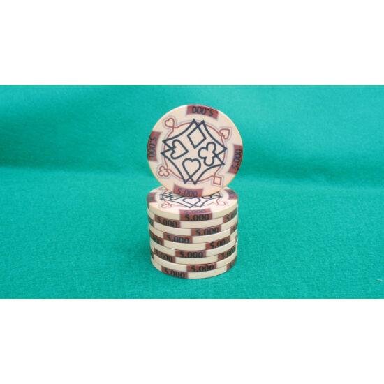Zseton.hu HungaroLinea kerámia póker zseton - 5.000/barna, 1 db (aligned)