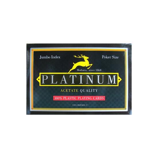 Modiano Platinum, Jumbo (100% plasztik póker kártya, dupla csomag)