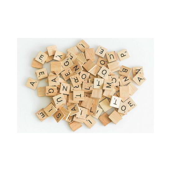Scrabble angol betűkészlet