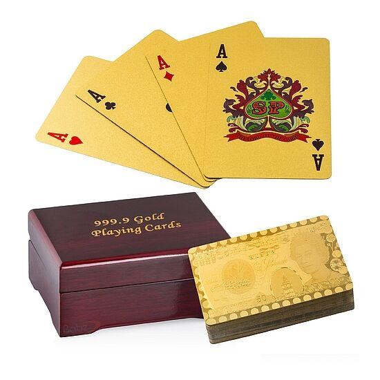 24K-os arany bevonatú kártyacsomag, díszdobozban