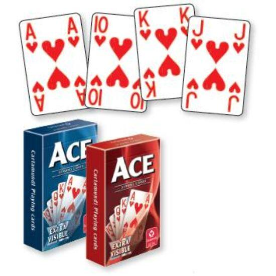 ACE Extra Visible bridzs/römi kártya, dupla csomag