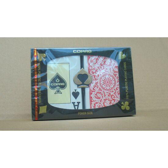 COPAG plasztik póker kártya, 2 Jumbo index, dupla csomag (piros/kék)