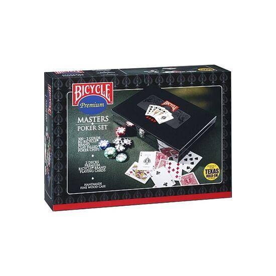 Bicycle Masters Poker Set (300 db-os póker zsetonkészlet, elegáns fa dobozban)