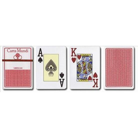 Cartamundi 100% plasztik kártya, poker size (1 csomag)