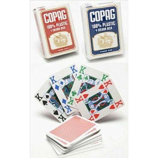 COPAG plasztik póker kártya, 4 colour (4 színű), 1 csomag