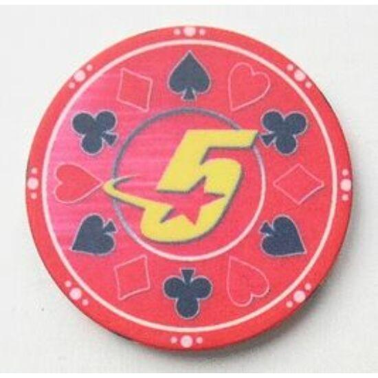 Ceramic Suited, piros - 25-pack (kerámia póker zseton,