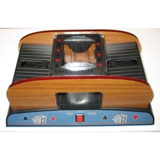Wooden card shuffler (elemes kártyakeverő 2 cs. Kártyához)