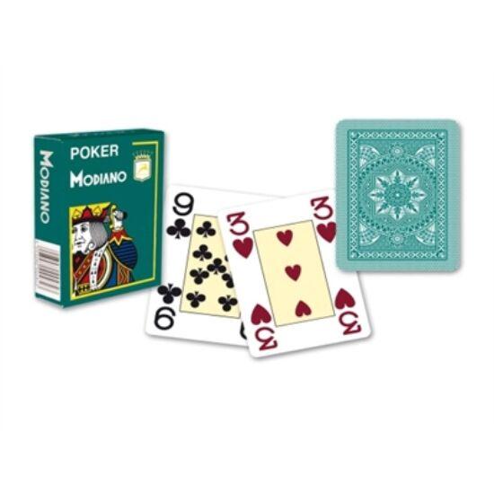 Modiano Cristallo Plastica, póker kártya - zöld hátlap, 1 csomag