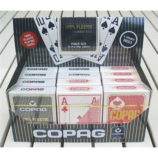 COPAG plasztik póker kártya, 4 Jumbo index, 1 karton (12 csomag)