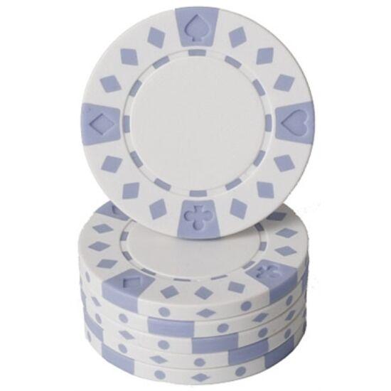Suited & Diamonds póker zseton, fehér - 25-pack