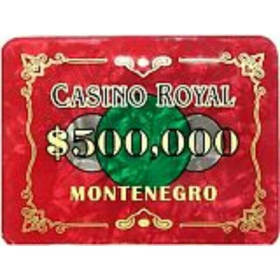 Casino Royal plakett - $500.000