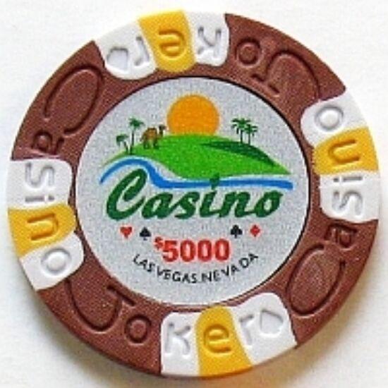 Joker Casino póker zseton, $5000 - 25-pack (barna)