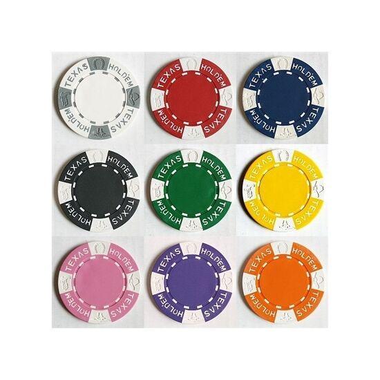 Texas Hold 'em design póker zseton mintakészlet (8 db zseton)