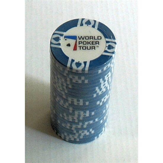 WPT póker zseton, kék, 25-pack (11.5 g)