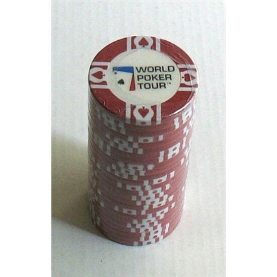 WPT póker zseton, piros - 25-pack (11.5 g)