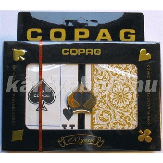 COPAG plasztik póker kártya, 2 Jumbo index, dupla csomag (Black & Gold)