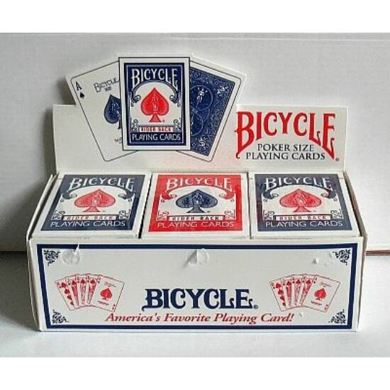 Bicycle 808 Rider Back póker kártya, white back (fehér hátlapú), 1 karton (12 csomag)