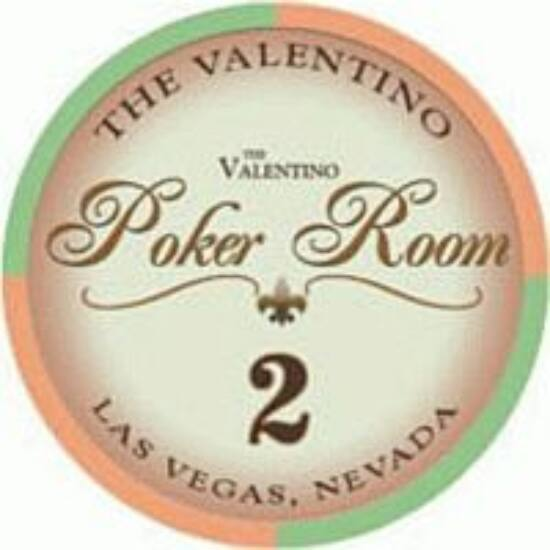 The Valentino Poker Room kerámia zseton - 2/narancs, 1 db (aligned)