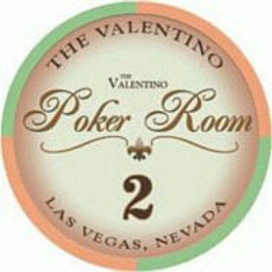 The Valentino Poker Room kerámia zseton - 2/narancs, 1 db (aligned)