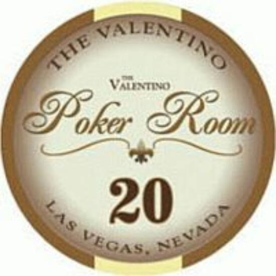 The Valentino Poker Room kerámia zseton - 20/barna, 1 db (aligned)