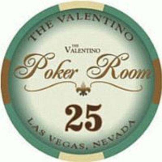 The Valentino Poker Room kerámia zseton - 25/zöld, 1 db (aligned)