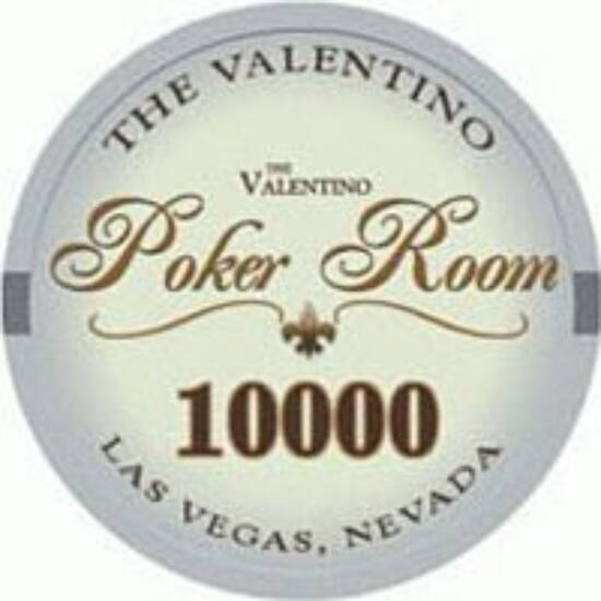 The Valentino Poker Room kerámia zseton - 10 000/világoskék, 1 db (aligned)