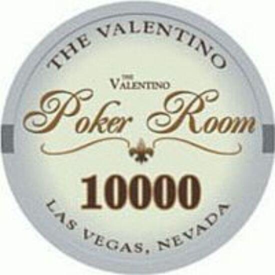 The Valentino Poker Room kerámia zseton - 10 000/világoskék, 1 db (aligned)