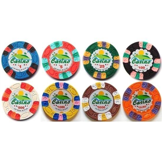 Joker Casino póker zseton mintakészlet (8 db zseton)