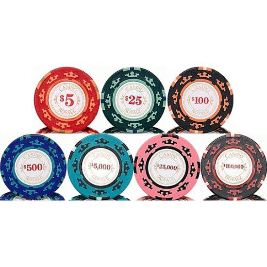 Casino Royale póker zseton mintakészlet (6 db zseton)