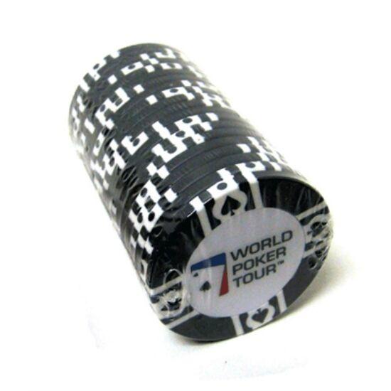 WPT póker zseton, fekete, 1 db (11.5 g)