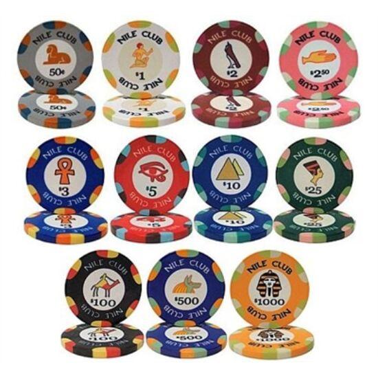 Nile Club póker zseton mintakészlet