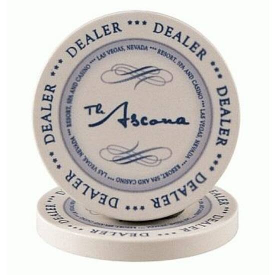The Ascona Dealer Button (kerámia osztógomb), 1 db