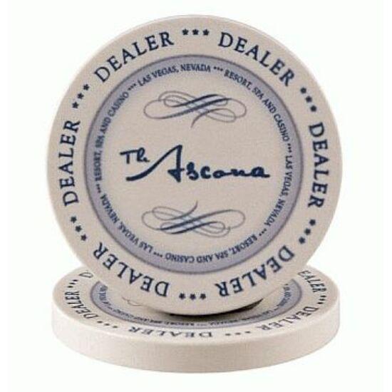 The Ascona Dealer Button (kerámia osztógomb), 1 db