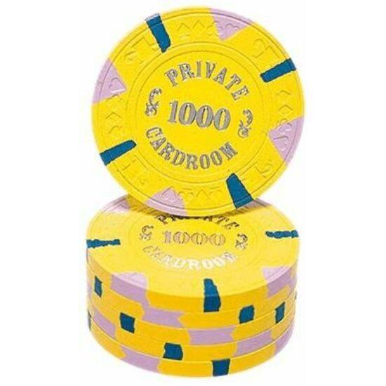 Paulson Private Cardroom póker zseton - 1000/sárga (1 db)