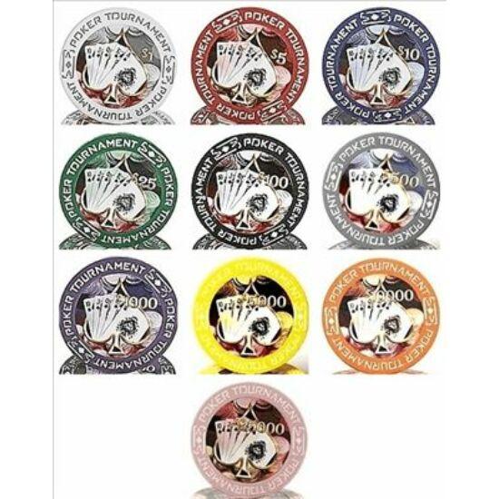 Poker Tournament zseton mintakészlet ($1 - $25000; 10 db zseton)