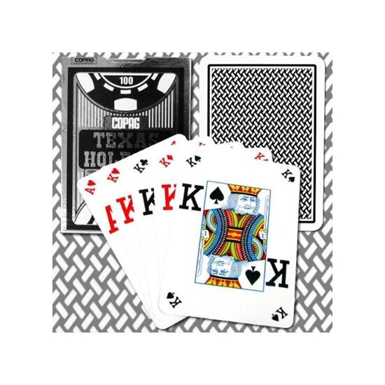 COPAG Texas Hold 'em Silver Poker (Dual index) kártya, 1 csomag
