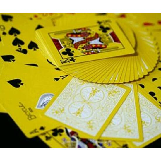 Bicycle Yellow Deck, Reversed Back kártya