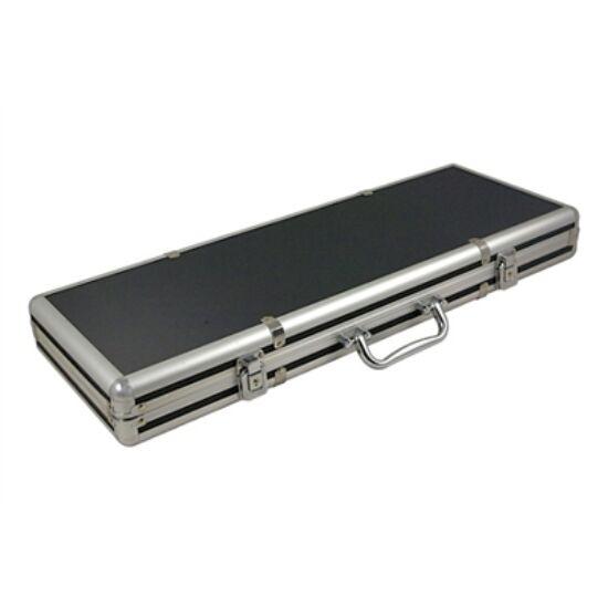 Extra Alu 500 case - fekete/ezüst zsetontartó táska/bőrönd, 500 db-os