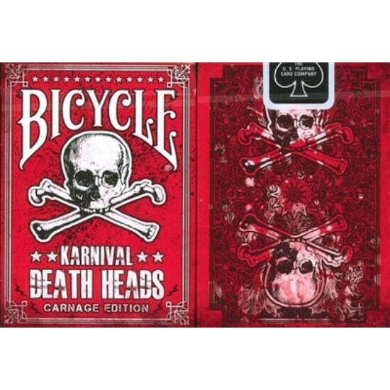 Bicycle Karnival Death Heads (carnage edition) kártya