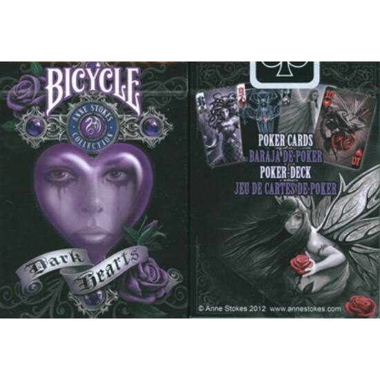 Bicycle Anne Stokes II - Dark Hearts kártya, 1 csomag