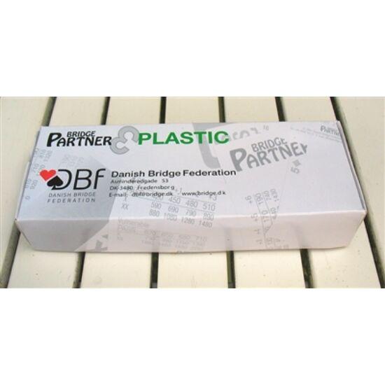 Bridgepartner Standard, műanyag bridzs licitkártya készlet (4 db)