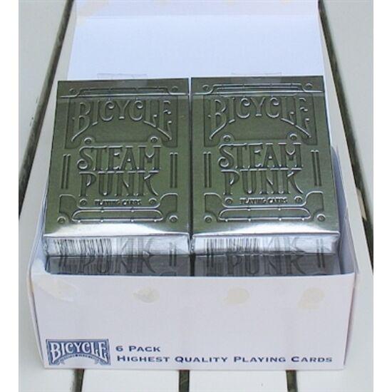 Bicycle Silver Steampunk kártya, 1 kiskarton (6 csomag, 5 csomag áráért!)