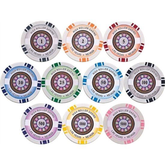 High Roller póker zseton mintakészlet