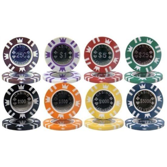 Coin Inlay (fémbetétes) póker zseton mintakészlet