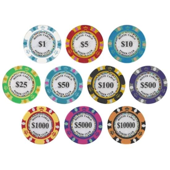 Monte Carlo Poker Club zseton mintakészlet
