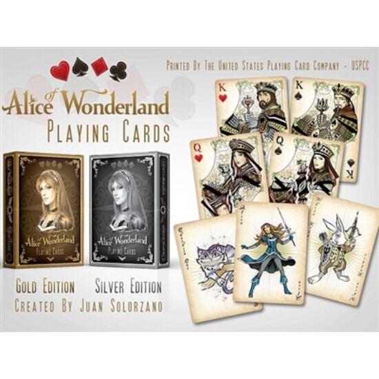 Alice of Wonderland (Alice Csodaországban) kártya - arany kiadás