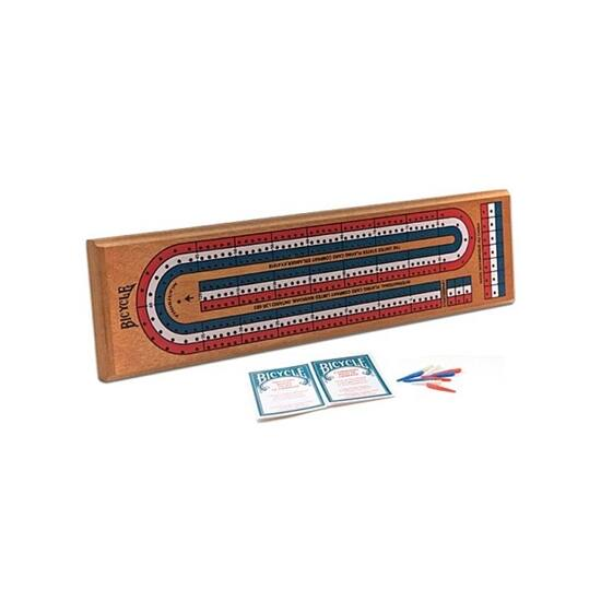 Bicycle 3-track Wooden Cribbage Game